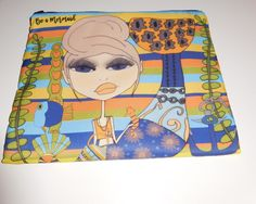Makeup Bag 8x10 -Be a Mermaid. by MichelewithasingleL on Etsy