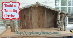 How To Build An Outdoor Nativity Stable With Pictures by Building A Nativity Creche Nativity Stable, Nativity Creche, Outdoor Nativity, Christmas Nativity, Christmas Holidays, Nativity Scenes, Xmas, Christmas Bells, Christmas 2017