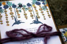 paper crane wedding invitation suite by juliaspoppies on Etsy
