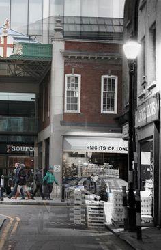 Spitalfields market yesterday and today