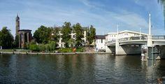 Brandenburg an der Havel, Jahrtausendbrücke mit Salzhofufer von THAL