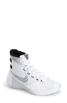 13803e80903 Nike Hyperdunk 2015 Basketball Shoe in White (WHITE  BLACK  SILVER)