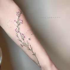 My beautiful delicate flower tattoo by Ana Abrahao❤️