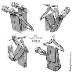 Hanging dress pants