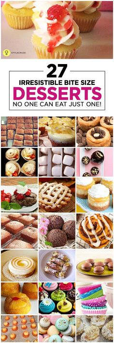27 Irresistible Bite Size Desserts – No One Can Eat Just One!