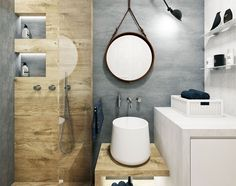 Přírodní koupelna ve skandinávském stylu. Severské pojetí malým koupelnám sluší a přináší mnoho praktických řešení s estetickou kvalitou. Autorkou návrhu je Katka Petkovšek ze studia Perfecto design. FOTO PERFECTO DESIGN - HOME