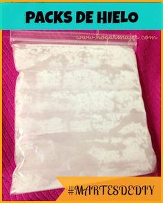 #MartesDeDIY como hacer packs o pads de hielo.