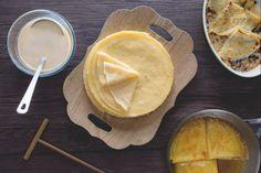Crespelle gorgonzola e radicchio Crepe Recipes, Egg Recipes, Kitchen Recipes, Dessert Recipes, Desserts, Ricotta, Waffles, Savory Crepes, Banana Pudding Recipes