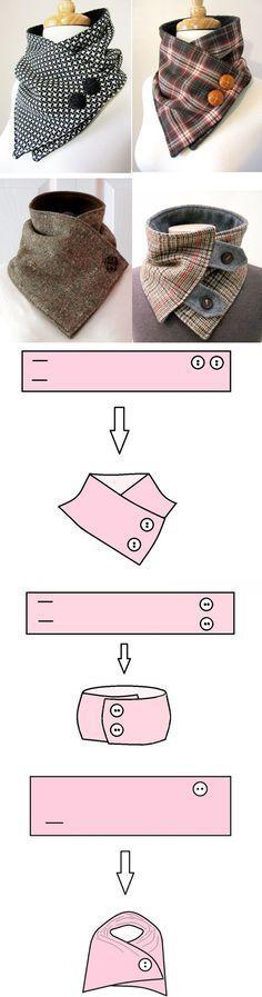 Como coser el cuello-mostrador original desmontable — las Clases maestras en BurdaStyle.ru