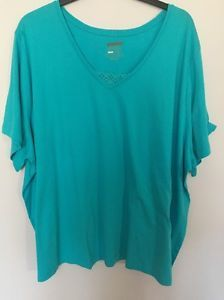 5X 34 36 Catherines Sleepwear Blue Top Lounge Shirt New   eBay