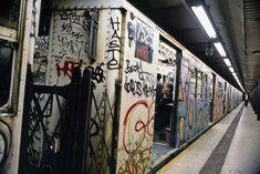 NYC subway train, 1980s