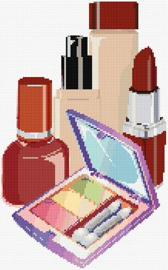 Cross Stitch | Cosmetics xstitch Chart | Design