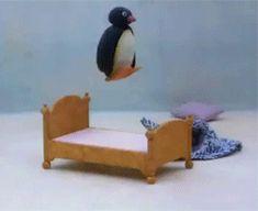 Picture of Pingu Cute Memes, Stupid Funny Memes, Dankest Memes, Cartoon Memes, Cute Cartoon, Pingu Pingu, Pingu Memes, Response Memes, Mood Pics