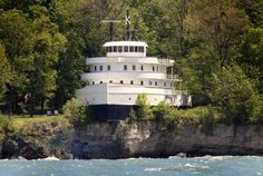 Cool freighter ship house. South Bass Island Lake Erie, Ohio.