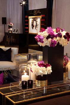 <p> At <em>Essence</em> magazine's Black Women in Hollywood awards luncheon in Los Angeles in February, vibrant purple and white flowers...