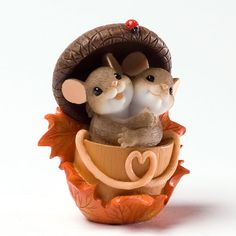 CHARMING TAILS Mouse Figurine Thanksgiving 4027683 ACORN BUILT FOR TWO | eBay