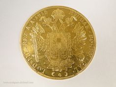 Beautiful  Austrian Coin, solid gold, Gold Hungar Bohem 1915, weight 14 gr. For sale on Proantic by Luc de Laval Antiquités. #coin   #gold   #20thcentury