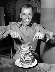 Sinatra--now I want pancakes too :)