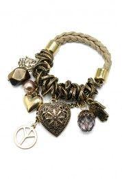 #Chickwish Multi Elements Knit Bracelet
