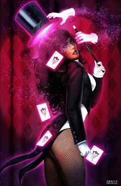 Zatanna Zatanna by Mystic-Oracle Dc Comics Art, Comics Girls, Marvel Dc Comics, Comic Book Characters, Comic Character, Comic Books Art, Comic Art, Superhero Cosplay, Female Superhero