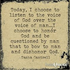 """What if...Joshua and his men didn't march around the town of Jericho once a day for 6 days? What if...they didn't march around the town of Jericho seven times on the seventh day? What if...they didn't then blow the trumpet and SHOUT? What if...they listened to all those other voices who said """"that's silly, God doesn't require that...""""? What if...Joshua was disobedient and listened to the voice of man over the voice of God?  It would have changed the course of history.  Today, I choose to…"""