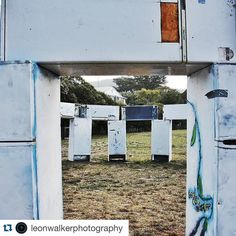 #Repost @leonwalkerphotography with @repostapp.  Chilling out @lornesculpture with a stack of fridges on a hot autumns day cant wait for the opening this weekend! #lornesculpture2016 #art #awesome #follow #festival #Lorne #lovelorne #sculpture #wandervictoria  #greatoceanroad #inspired #instagood #arttrail by lornesculpture