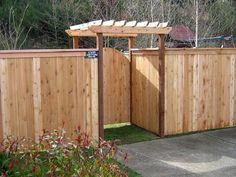 Front Yard Fence Ideas » Driveway Wood Fence Gate