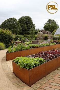 CorTen Steel Raised Beds by Steel For Gardens Garden Fence Art, Garden Pond Design, Garden Deco, Modern Garden Design, Rustic Planters, Modern Planters, Outdoor Planters, Diy Planters, Tall Planters