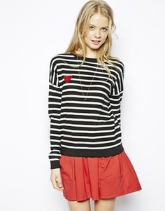 ASOS+Jumper+In+Stripe+With+Heart+Patch
