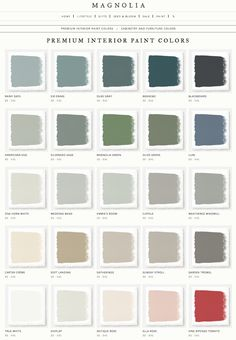 Magnolia Home by Joanna Gaines paint colors. LOVE these! Magnolia Home by Joanna Gaines paint colors. LOVE these! Magnolia Home by Joanna Gaines paint colors. LOVE these! Magnolia Home by Joanna Gaines paint colors. LOVE these! Dining Room Paint Colors, Interior Paint Colors, Paint Colors For Home, House Colors, Interior Painting, Home Paint, Peacock Paint Colors, Cream Paint Colors, Farmhouse Paint Colors