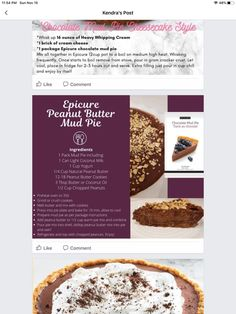 Epicure Recipes, Cooking Recipes, Heavy Whipping Cream, Mud Pie, Hustle, Sweet Tooth, Beef, Chocolate, Healthy