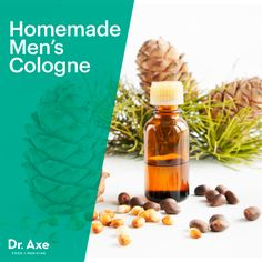 This Homemade Men's Cologne  Recipe makes a unique DIY Christmas gift idea for men!