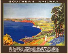 A #dorset holiday #retro vintage railway travel poster art #print advertising,  View more on the LINK: http://www.zeppy.io/product/gb/2/322215727202/