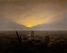 Moonrise over the Sea by Caspar David Friedrich circa 1821 Oil on Canvas (Hermitage Museum)