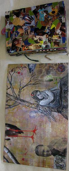 gel medium transfer paintings - Google Search