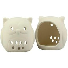4 x Ceramic OWL Tea Light Candle holders - A TOUCH OF CLASS THIS MOTHER'S DAY