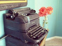 Vintage Smith & Corona Type Writer by Ableubirdsnest on Etsy
