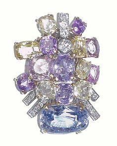 Cartier Sapphire and Diamond Brooch