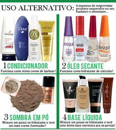Dica rápida: uso alternativo de produtos!