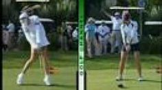 comparing Natalie Gulbis's swing to Paula Creamers.