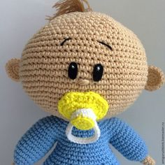 Amigurumi Baby Boy - Free Russian Pattern here: http://www.livemaster.ru/topic/1821293-vyazhem-pupsa-kryuchkom