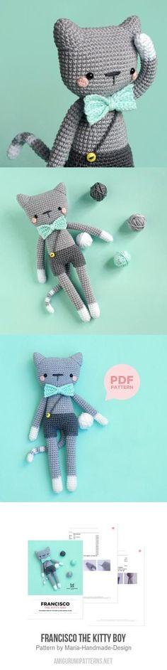 Mesmerizing Crochet an Amigurumi Rabbit Ideas. Lovely Crochet an Amigurumi Rabbit Ideas. Baby Knitting Patterns, Crochet Toys Patterns, Amigurumi Patterns, Cat Amigurumi, Crochet Hippo, Cute Crochet, Crochet Dolls, Crochet Baby, Single Crochet