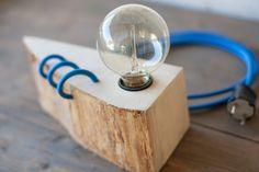 Wooden Bulls Lamp with Edison bulb