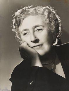 Agatha Christie by Angus McBean, bromide print, 1949 Agatha Christie, National Portrait Gallery, Celebrity Portraits, Famous People, Harvard, Celebrities, Portrait Ideas, Authors, Past
