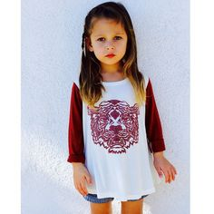 Easy like Sunday morning in our Eye of the Tiger Swing Top. www.littleedgethreads.com