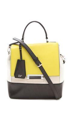 Diane Von Furstenberg 440 Small Colorblock Bag Cute Handbags Satchel Leather