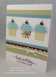 Masculine Cupcakes by LaLatty - Cards and Paper Crafts at Splitcoaststampers