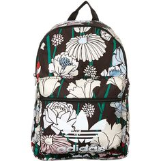 Womens Adidas Originals Classic Backpack Polyester found on Polyvore featuring bags, backpacks, women, lightweight backpack, waterproof rucksack, floral backpack, pocket backpack and white backpacks