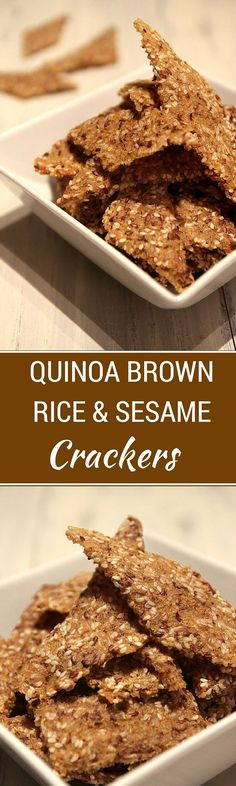 quinoa brown rice sesame crackers quinoa brown rice sesame crackers ...