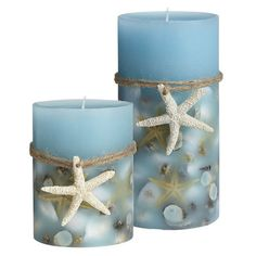 Scented Seashell Candles- So pretty and they remind me of home. :)
